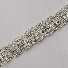 Charm Wrist Crystal cubic zirconia White Silver Filled Chain bracelet