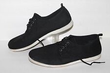 Carbon Element Lace Casual Shoes, Black, Men's US Size 10