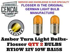 R10W 12V 10W BA15S FLOSSER LIGHT BULBS (QTY 2) N177192  5008  89 39393 1402507