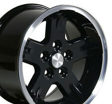 "15"" Wheels For Jeep Grand Cherokee Wrangler 15x8.0 5x114.3 Black Rims Set of (4)"