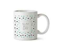 Slay All Day Mug Funny Slay Work Novelty Girl Gift Ceramic Coffee Cup Tea 10oz