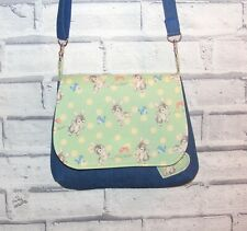 Retro Rabbit Fabric Handmade Bag, Across body / shoulder bag