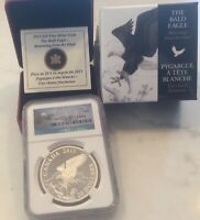 2013 Canada Silver Bald Eagle Returning from the Hunt NGC PF70-ER-OGP & COA