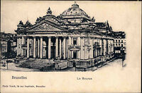 Bruxelles Brüssel Belgien Belgique AK ~1900 Börse Börsenplatz Gebäude Bourse