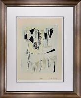 "Marino MARINI Lithograph SIGNED Ltd EDITION ""Quadrille"" '62 +Custom FRAME 20x24"