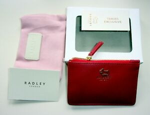 RADLEY SMALL ZIP TOP COIN PURSE  COLOUR CLARET NEW IN BOX WITH  DUST BAG RRP£35