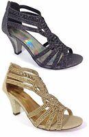 c6b533fdfe7 Women Evening Dress Shoes Rhinestones High Heels Platform Wedding Black  Kimi-25