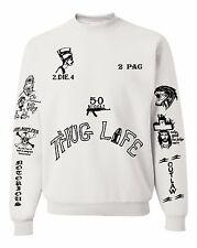 2PAC Tattoos Sweatshirt Unisex Crewneck Sweatshirt
