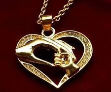 Edelstahl Halskette mit Herzanhänger Farbe Gold Infinity Freundschaft  Neu