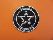 DALLAS COWBOYS SILVER & BLUE EMBROIDERED IRON ON PATCHES  3 X 3