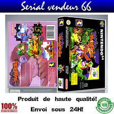 "Boitier du jeu ""BANJO KAZOOIE"", nintendo 64, visuel PAL FR. HD."