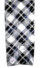 SCARF Black & White & Gray LARGE PLAID ABSTRACT STRIPES ON DIAGONAL