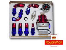 Adjustable Raising Fuel Pressure Regulator Kit AN-6 Oil Gauge Braided Fuel Hose