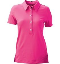 Women's Oakley Golf Punch Shot S/S Polo Shirt Neon Pink Size Small S