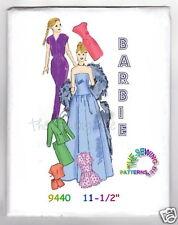 "9440 Vintage Barbie doll Wardrobe Pattern 11-1/2"""