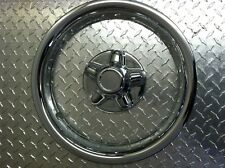 "(set of 4) 15"" Chrome Trailer Wheel Ring / Cap 2 piece Covers SHARP!!"
