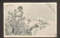 FEMME & FLEURS / CACTUS & FEMME D'AFRIQUE NOIRE en 1902