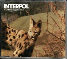 INTERPOL Heinrich Maneuver  EDIT w/ Mammoth INSTRUMENTAL UK CD single SEALED 07