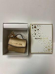 Designer Michael Kors Miniature Gold Purse Bag Keychain Fob Charm