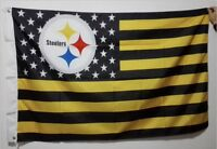 Pittsburgh Steelers 3x5 Ft American Flag Football New In Packaging