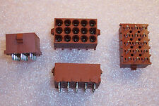 QTY (10) 350830-1 AMP / TYCO 15 POSITION POWER SOCKET HEADERS 6.35mm