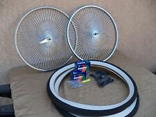 BICYCLE 26''-140 SPOKES RIM SET WITH TIRES, TUBES & LINERS FOR CRUISER, CHOPPER