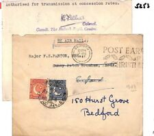 S253 PAKISTAN Cover 1948 Military Mail Forwarded *BEDFORD* {samwells-covers}PTS