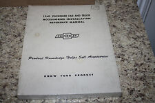 CHEVROLET--1960 Accessory Installation Manual--BRAND NEW RARE