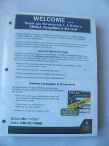 FMCSA Compliance Manual With Binder J. J. Keller New DOT Safety Regs