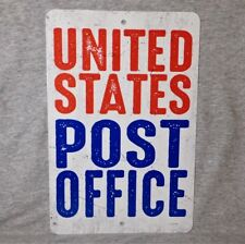 Metal Sign POST OFFICE United States USPS replica postal mailman mail carrier