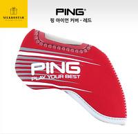 2020 New PING Premium Original Golf Iron Club Head Cover 9pcs Red Neoprene