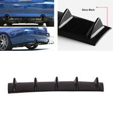 "23"" 5 Fin Gloss Black Auto Car Body Rear Bumper Diffuser Shark Fin Kit Spoiler"