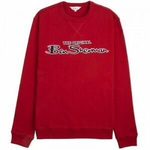 BEN SHERMAN CLASSIC LOGO SWEATSHIRT RED, NEW! MOD-SKINHEAD-CASUAL
