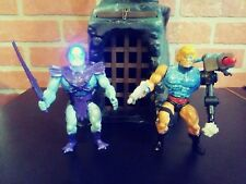 Masters of the Universe Custom Eternal Glow Skeletor vs Cyborg He-Man. RARE! WOW