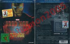 Blu-Ray Iron Man 1+2+3 Trilogy SteelBook Robert Downey Jr. Marvel OOP Neu+OVP