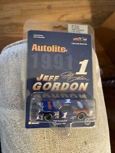 Jeff Gordon #1 Autolite 1989 Ford Thunderbird Raced in 1991 Action Diecast 1:64