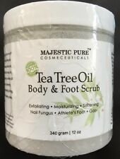 Tea Tree Oil Body & Foot Scrub 100% Natural Anti Fungal Scrub 12 Oz