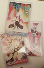 SPIDER-GWEN #1, #2 & #3 ALL SIGNED BY ROBBI RODRIGUEZ NM/M IN TOPLOADERS
