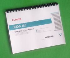 Canon EOS M5 Camera 222 Page COLOR LASER PRINTED Owners Manual Guide