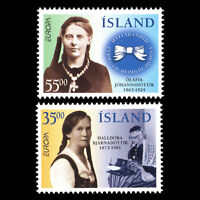 """Iceland 1996 - EUROPA Stamps """"Famous Women"""" - Sc 818/9 MNH"""