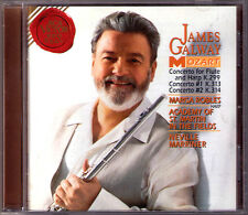 James Galway: Mozart Flute Concerto 1 & 2 Neville Marriner Harp CD Marisa Robles