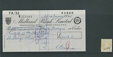 wbc. - CHEQUE - CH1124- USED -1962 - MIDLAND BANK, HENDON CENTRAL, LONDON NW4