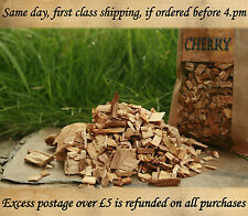 SPRING OFFER-CHERRY Wood chipps for BBQ smoking 5 L ~ BUY 2 get 3RD FREE :-)