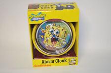 SpongeBob SquarePants Retro Round Alarm Clock Nickelodeon NIB