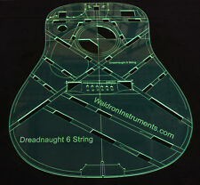 "Acoustic MS 6 String Dreadnaught 25.4"" Scale Top Guitar Template"