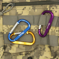 Outdoor Climbing Aluminium Alloy D Shape Buckle Carabiner Survival Keychain Hook
