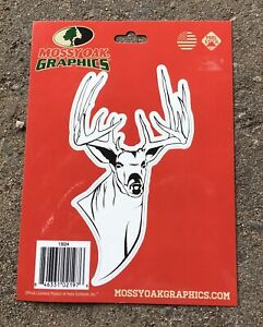 New Mossy Oak Graphics Whitetail Deer Hunting Decal Sticker Die Cut Antlers