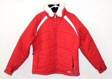 RARE Marker RED Ski coat Snowboard Jacket white fur size 14 Gortex RN# 73344