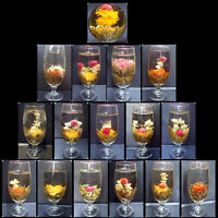 16 different BLOOMING TEA,flowering Green Flower ball,Individually Wrapped tee