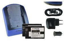 2 Batteries + Chargeur USB LP-E6 pour Canon EOS 5D Mark II, 5D Mark III, 6D